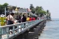 Bridge to island pagoda