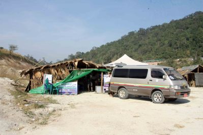Border crossing at Htee Khee