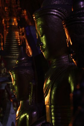 Buddhas in Golden Cave