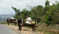 Bullock cart highway, near Heho