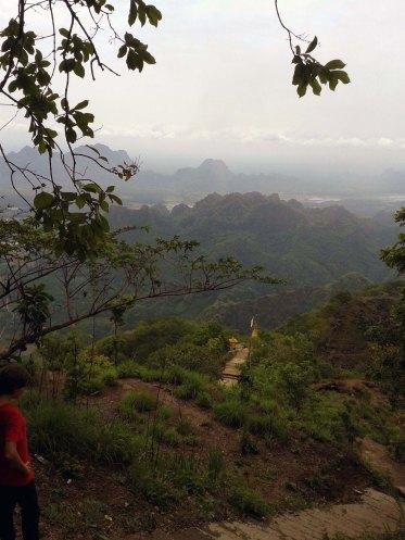 Descending Mt Zwe Kabin
