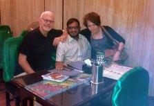 With Thaya and Dave, Yangon