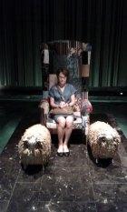 On her throne, Bangkok