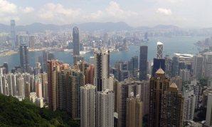 View from peak, Hong Kong skyline