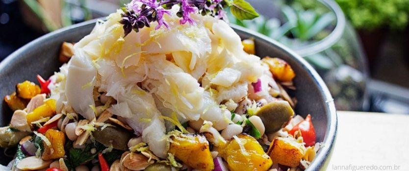 salada de feijão fradinho bacalhau