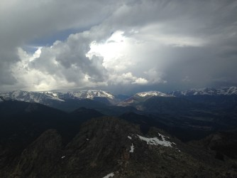 Summit of Twin Sisters, Rocky Mountain National Park, May 2014