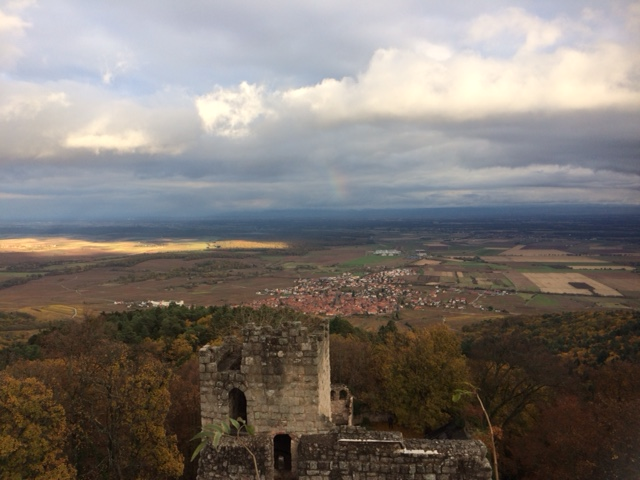 View from the top of Chateau de Bernstein ruins