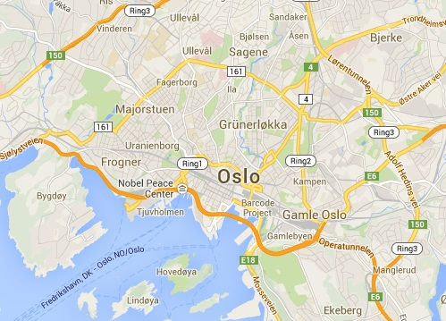 Carte d'Oslo