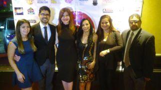 Andres Ruiz del consulado mexicano y su esposa, Marybel Torres, Nubia Neme, Rochy Cantillo y Wilder Gomez