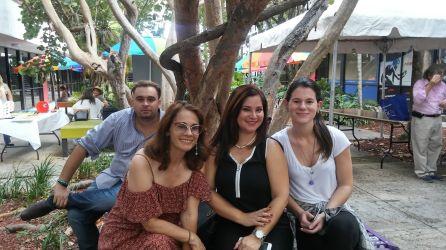 Gioconda Salcedo. Rochy Cantillo, Arianna Uberti y Ahmed David Montero