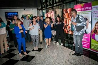 El cantante Mauro Mosquera puso a bailar a los presentes.