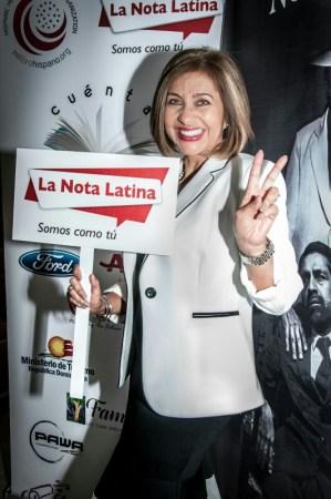 Ivonne Fernández irradió felicidad y entusiasmo en todo momento.