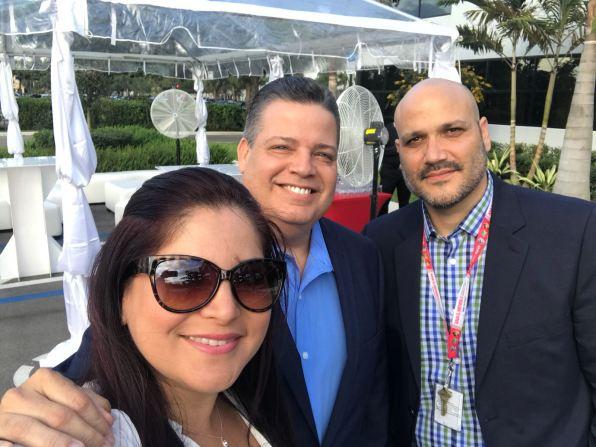 Rosana Cantillo, Armando Morales y Victor Mendez
