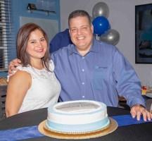 Rosana Cantillo y su esposo Armando Morales.