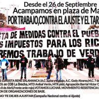 Acampe en Plaza de Mayo: 400 carpas