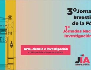 Comenzarán las 3° Jornadas de Investigación y la 1º Jornada Nacional de Investigación en Artes
