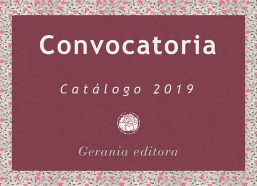 Gerania Editora lanzó una convocatoria para ampliar su catálogo