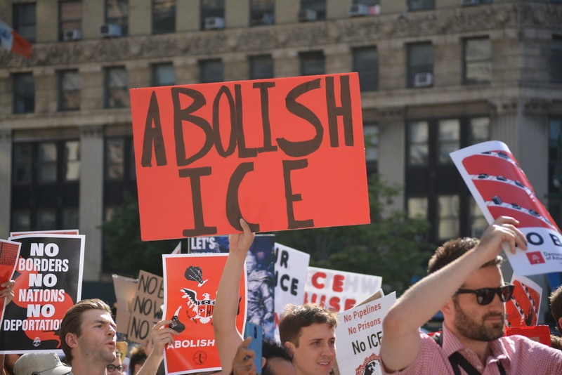 Scenes from a pro-immigrant rally