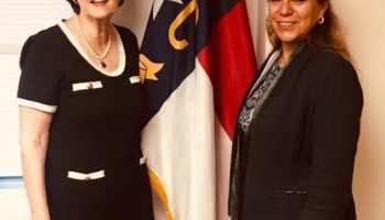 Nueva cónsul de México se reúne con Secretaria de Estado de Carolina del Norte
