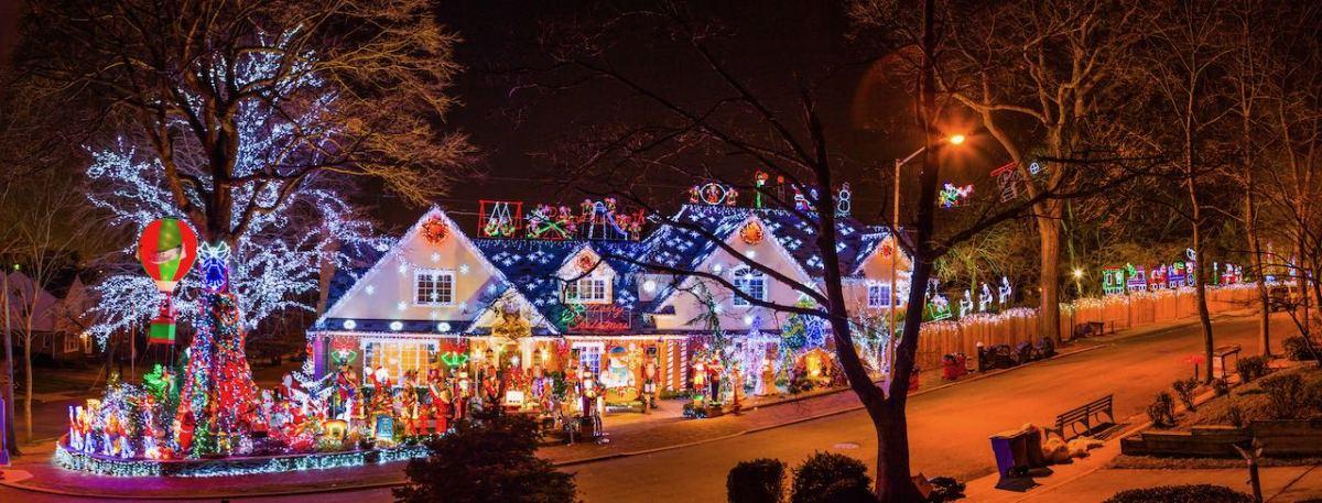 ¿Dónde disfrutar de las luces navideñas en el área de Charlotte?