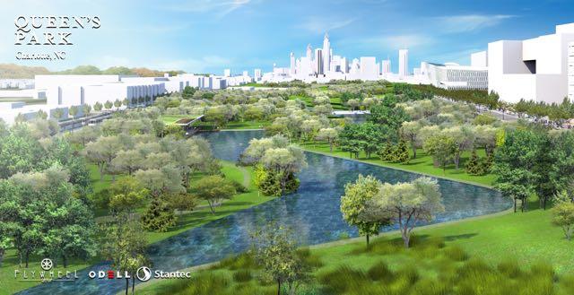 Parque central para Charlotte: planes para el sitio de 220 acres cerca del centro