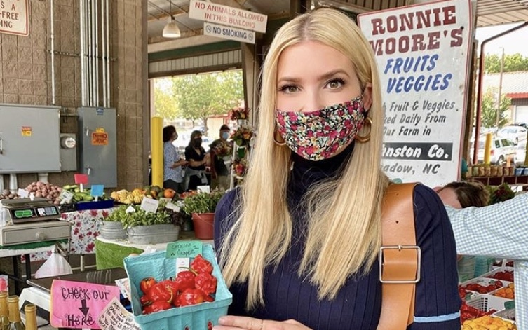 Ivanka Trump visita mercado agrícola en Raleigh