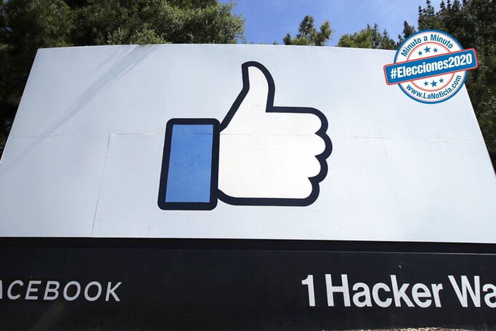 Facebook prohíbe grupo por estimular violencia durante conteo