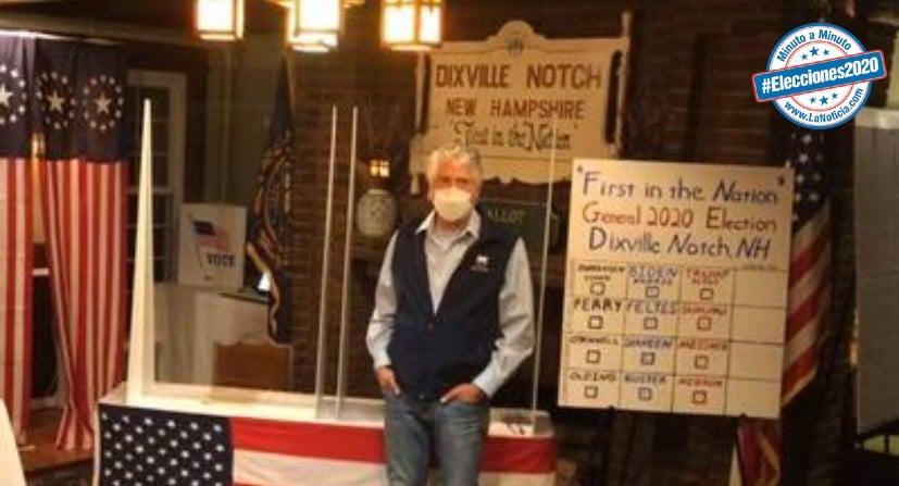 Joe Biden gana todos los 5 votos del pequeño pueblo de Dixville Notch