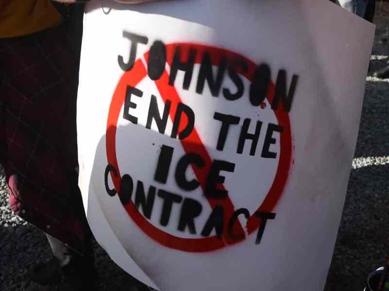 Protesta contra ICE en Graham