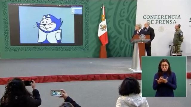 AMLO comparte video de Benito Bodoque en la Mañanera