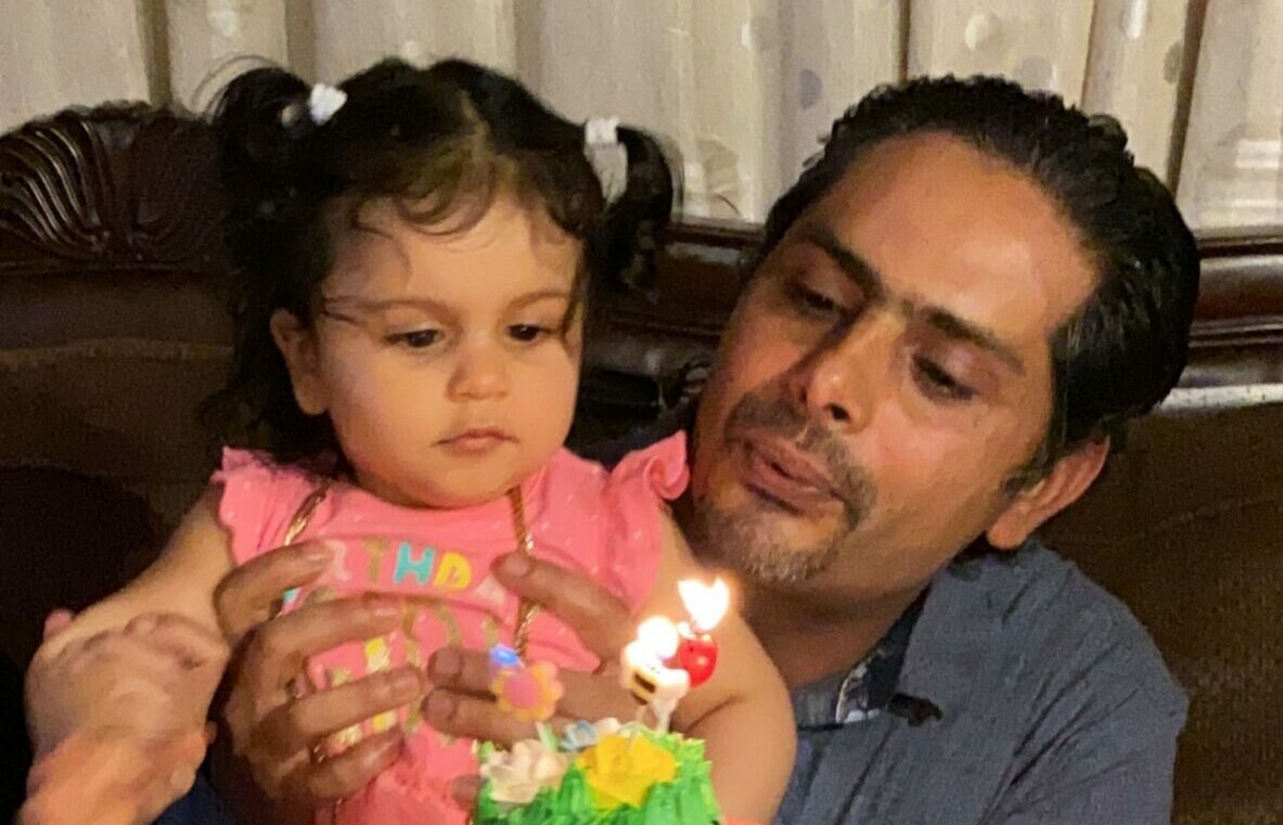padre bebé migrantes incendio california