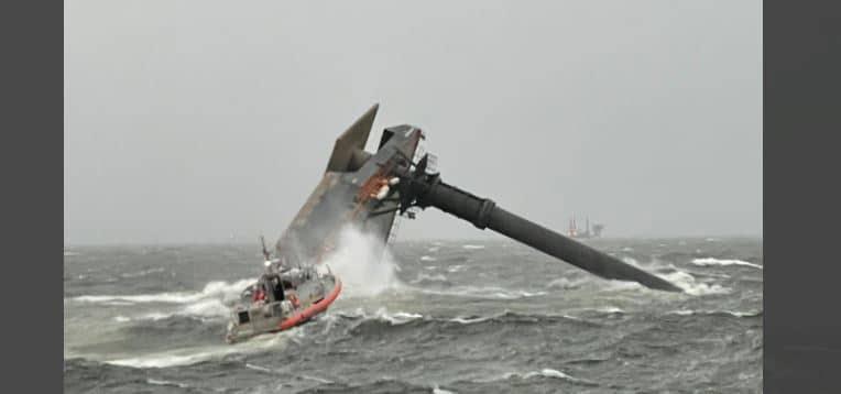 1 muerto 6 rescatados barco louisiana