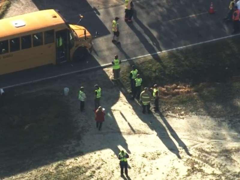 Accidente autobus escolar niños
