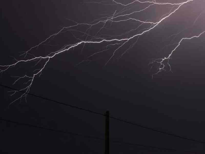 Tormenta eléctrica Carolina del Norte