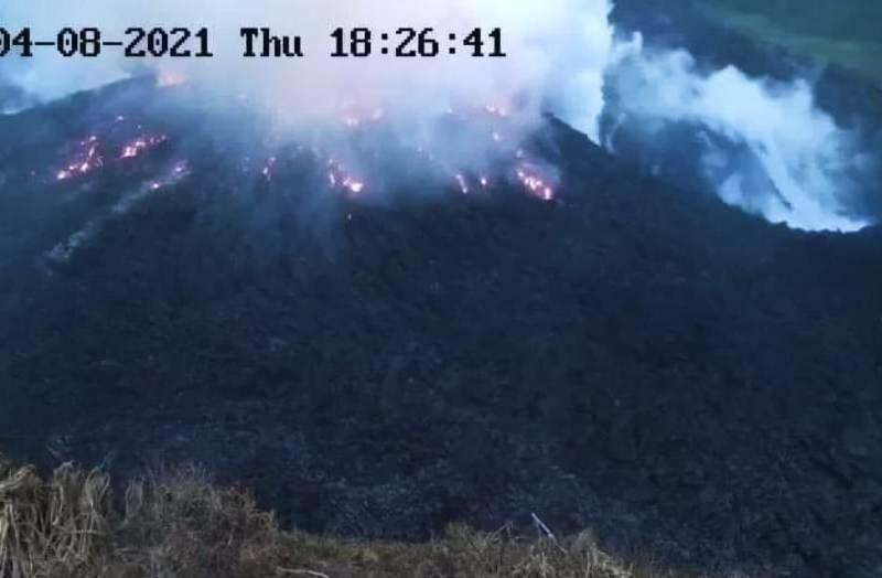 Volcán erupción San Vicente