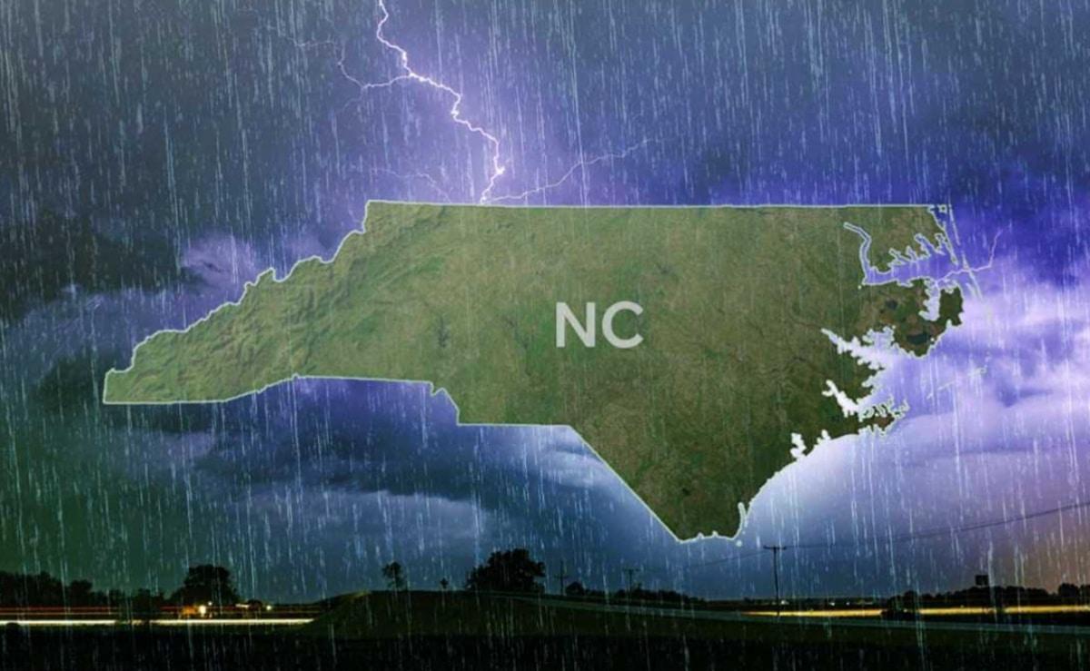 Granizo lluvia Carolina del Norte