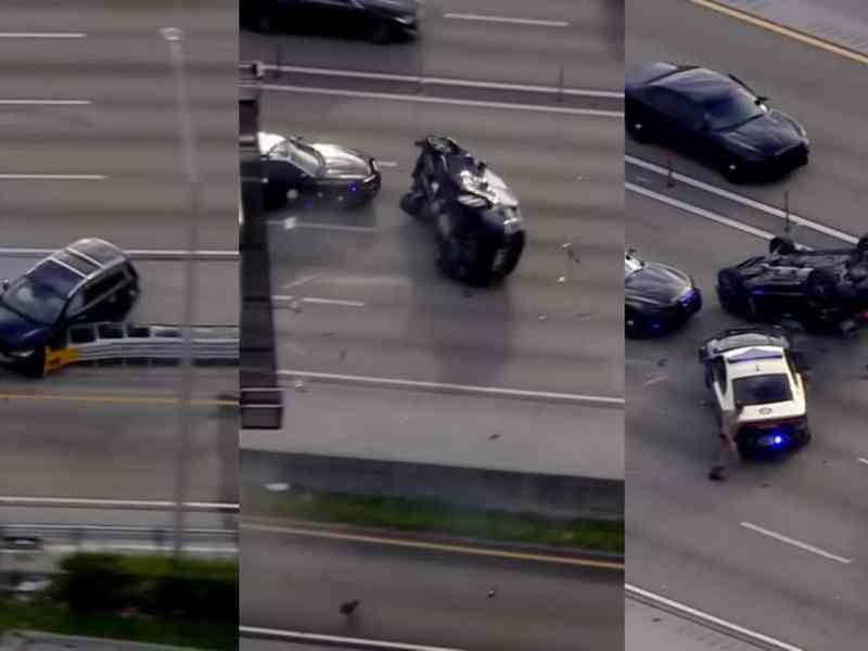 Florida: camioneta robada se vuelca en persecución, menores conducían