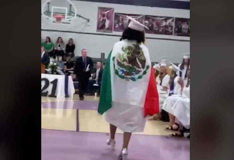 latina bandera méxico graduación