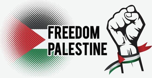 Protestan para defender Palestina y Colombia en Raleigh
