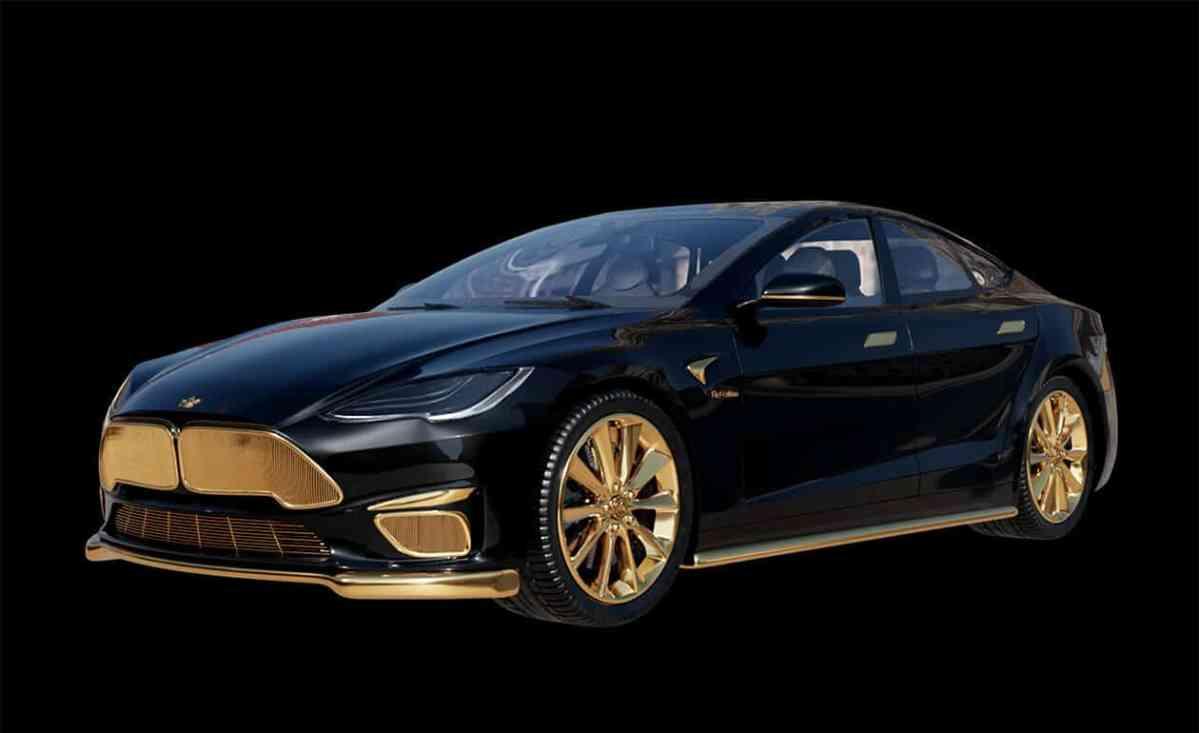 Tesla-Model-S-Oro