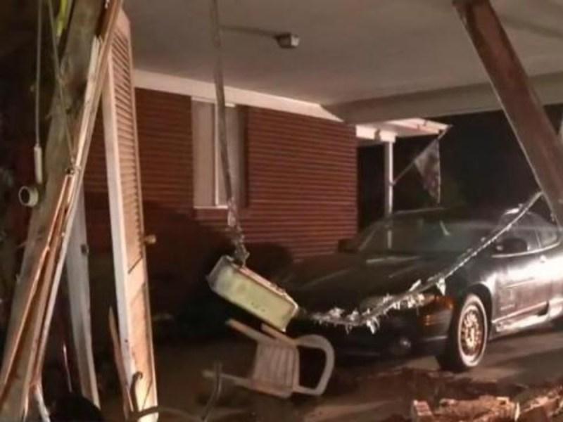 """""""Esta es la décima vez"""": conductor ebrio choca contra una casa"""