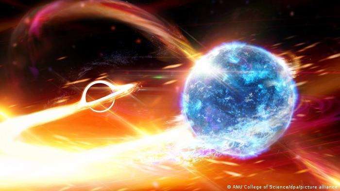 colisión agujero negro estrella neutrones