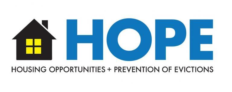 El Programa de Oportunidades de Vivienda y Prevención de Desalojos (HOPE) brinda asistencia para el alquiler y los servicios públicos a inquilinos de bajos ingresos que están pasando por dificultades financieras debido a los impactos económicos del COVID-19.
