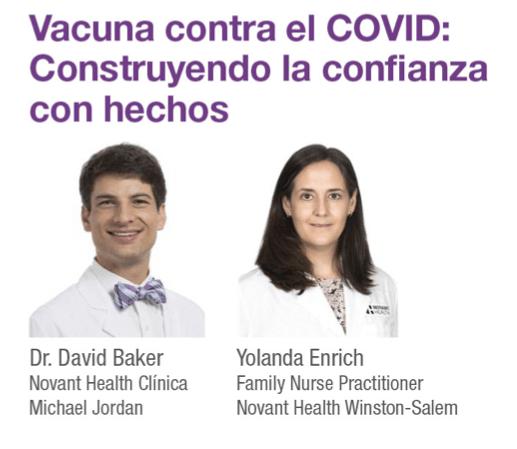 El Dr David Baker y la enfermera practicante de medicina familiar Yolanda Enrich hablaron sobre las vacunas contra en COVID-19 en la conferencia de LatinaCon.