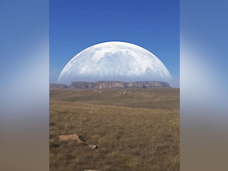 Video de luna gigante en Polo Norte, ¿verdadero o falso?