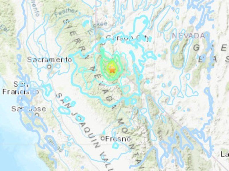california nevada terremoto réplicas