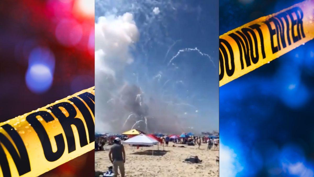 Video: Explota accidentalmente camión con fuegos artificiales en playa de Maryland
