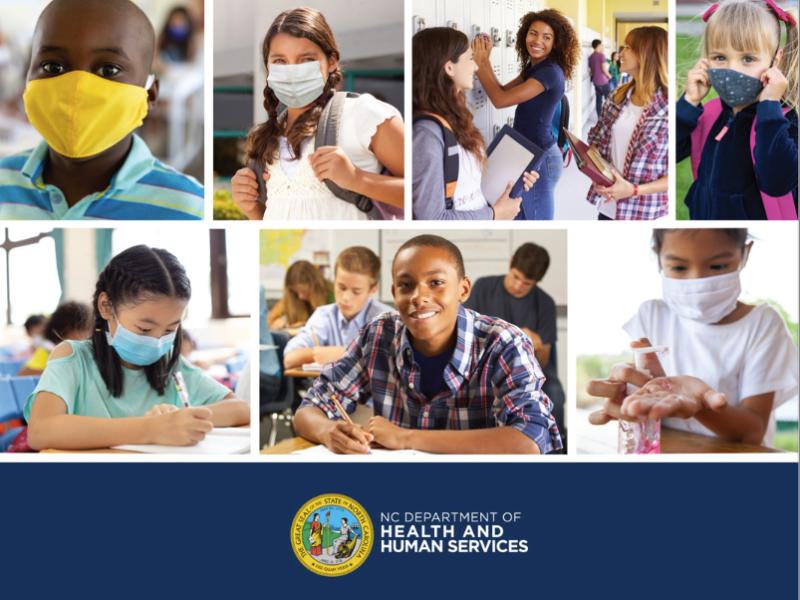 Hoy anunciaron nuevos protocolos anti-COVID para escuelas en Carolina del Norte. Foto NCDHHS / StrongSchoolsNC Public Health Toolkit