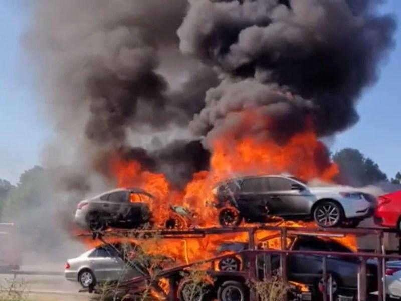 Incendio Durham Carolina del Norte