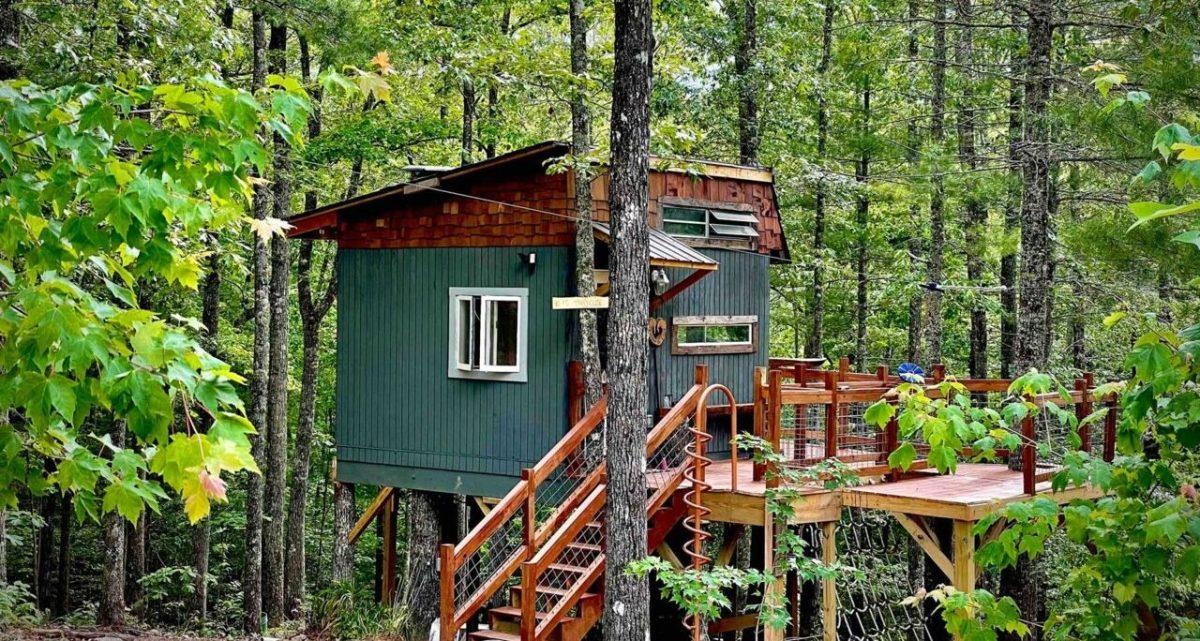 niño casa árbol airbnb